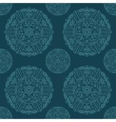 Ornate Mandala seamless texture endless pattern vector image vector image