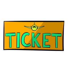 plane tickets icon icon cartoon vector image vector image