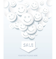 Background for Sale and Shopping with Smiles vector image