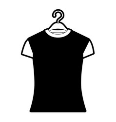 black sections silhouette of woman t-shirt in vector image