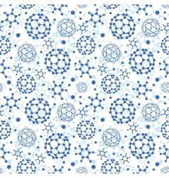Blue molecules texture seamless pattern background vector image vector image