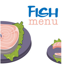 fish menu fish background image vector image