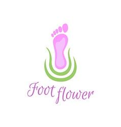 Foot care logo vector image