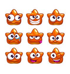 funny cartoon orange jelly monster vector image vector image