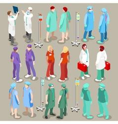 Hospital 21 People Isometric vector image vector image