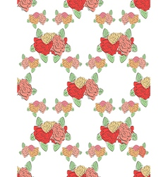 modern seamless floral pattern vector image