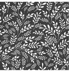 Seamless floral background on blackboard vector image vector image