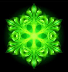 snowflake fair Green 01 vector image vector image