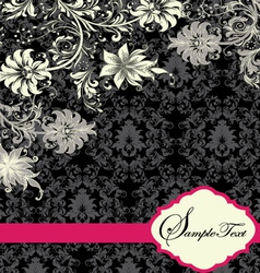 floral invitation card with place for text vector image vector image