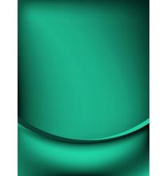 Green curtain fade to dark card EPS 10 vector image