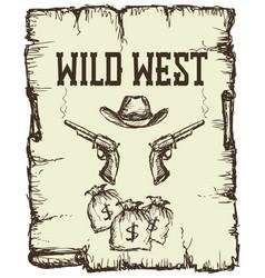 vintage western poster vector image