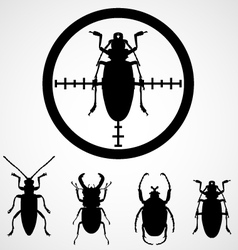 Bug in crosshair - insect insecticide vector