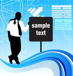 businessman with message sign vector image