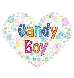 candy boy greeting card vector image vector image