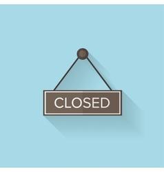Flat web icon Closed vector image