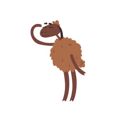 Funny sheep character standing on two legs and vector