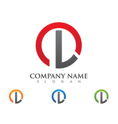 l letter recycle logo template vector image