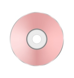 Pink Compact Disc vector image vector image