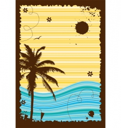 summer holiday frame vector image