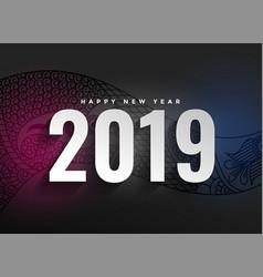 2019 new year decorative dark background vector image