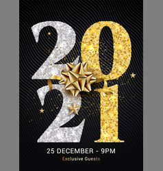 2021 new year gold logo happy premium banner eve vector image