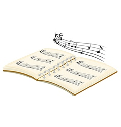 A musical book with musical notes vector image