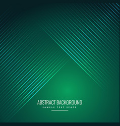Abstract green background with shiny lines vector