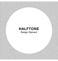 Abstract Halftone Dots Frame Circle Background vector image