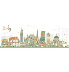 Abstract Italy Skyline with Landmarks vector image