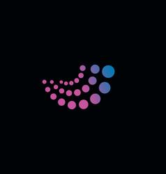 Abstract logo logo purple logo circle vector