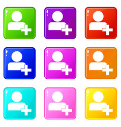 add new user account set 9 vector image