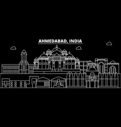 Ahmedabad silhouette skyline india vector