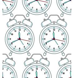 Alarm clock pattern vector