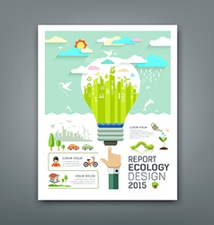Annual Report light bulb environment creative vector