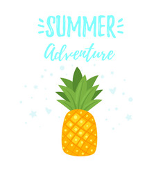background with pineapple vector image