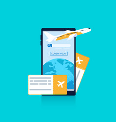 Banner mobile phone blue background vector
