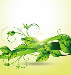 beautiful leaf design vector image