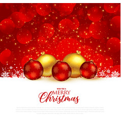 beautiful red christmas festival greeting vector image