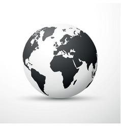 black earth globe world map design vector image