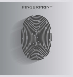 black fingerprint identification symbol vector image