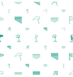Blowing icons pattern seamless white background vector