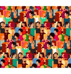 Boys Girls in Colorful Clothes Pattern vector image