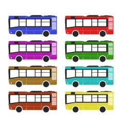 Bus on white background vector