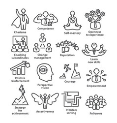 Business management line icons pack 45 icons for vector