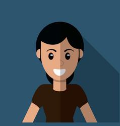 Character woman female cartoon vector