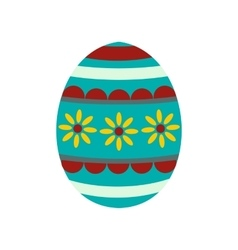 Colorful easter egg icon vector
