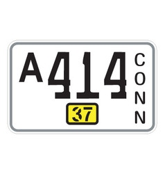 Connecticut 1937 license plate vector