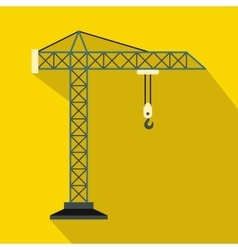 Construction crane icon flat style vector
