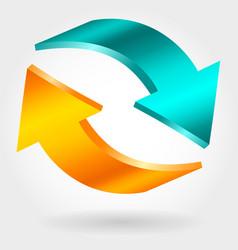counter blue and orange arrows exchange symbol vector image
