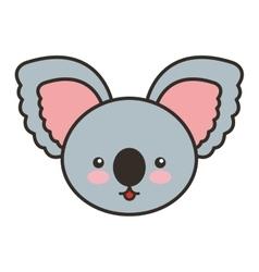 cute koala animal tender isolated icon vector image